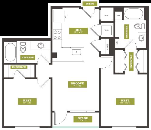 2 Bedroom Apartments Denver: Luxury 2 Bedroom Apartments In Downtown Denver