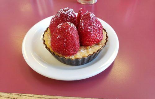 vegan almond cream tart from Beet Box