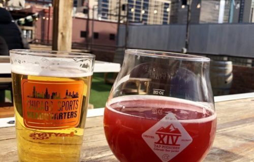 oskar blues mamma lil yella pels & high hops puckerberry - Dine-In at Tap Fourteen Rooftop Beer Garden - pic by Tessa R. on Yelp